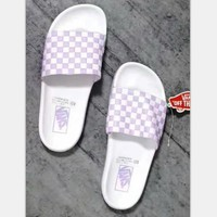 VANS Plaid Casual Fashion Women Sandal Slipper Shoes H-A50-XYZ