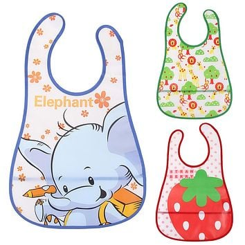 Unisex Baby Bibs Waterproof Cute Cartoon Boys Girl Lunch Burp Clothes Care for Babies Feeding Towel Bibs Apron