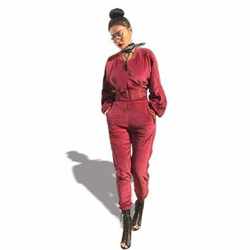 Good Quality Velvet Tracksuit