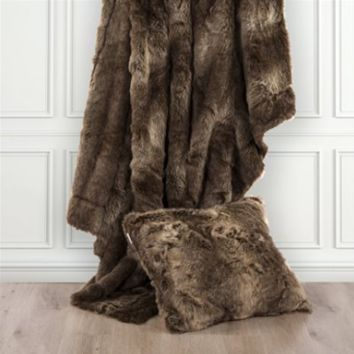 Cowgirl Kim Over Sized Faux Wolf Throw