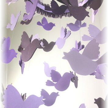 Song Bird Lavender Mobile, Lavender Nursery Decor, Lavender Nursery Bedding, Baby Shower Gift, Crib Mobile, Cot Mobile