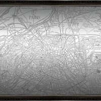 Paris Map Mirror (1217) - Illuminada