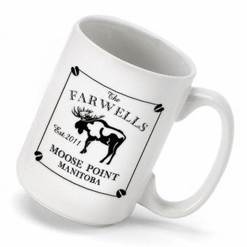 Personalize one of Cabin Series Coffee Mugs for a Special Family or Individual- Moose