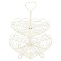 Wilko 2 Tier Cake Stand Heart Shaped | Cake Stands |  | Baking from Wilkinson Plus