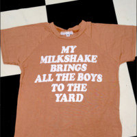 SWEET LORD O'MIGHTY! MILKSHAKE CROP TEE
