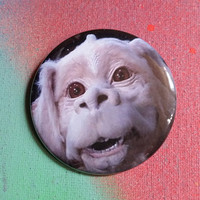 Falcor the Neverending Story pin badge pinback button hand pressed 2-1/4 inch pin retro fashion pingame strong