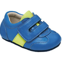 See Kai Run Smaller  Boys Baby trainer from seekairun.com - cool baby shoes, toddler shoes, kids shoes and baby booties.