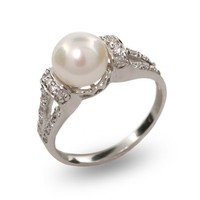 Vintage Style Freshwater Pearl Ring