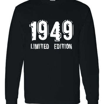 1949 Limited Edition Bday Long Sleeve Unisex T Shirt 64Th Bday Tee Great Birthday Gift Long Sleeve Happy 64th tee Shirt