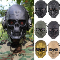 Movie Prop Terminator Full Face Airsoft Cosplay Mask For halloween Survival CS Wargame Field game