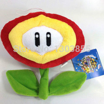 Details about Super Mario Bros Plush Fire Flower Soft Toy Nintendo Stuffed Animal Figure Doll