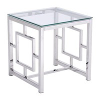 Geranium Side Table Stainless Steel Polished Stainless Steel