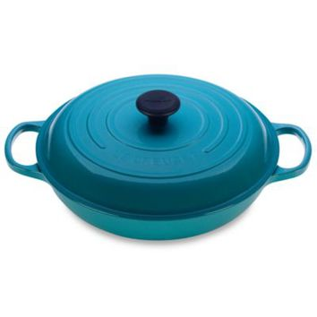Le Creuset® 3 1/2-Quart Enameled Cast Iron Braiser in Caribbean