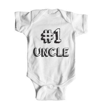 Number 1 Uncle Baby Onesuit
