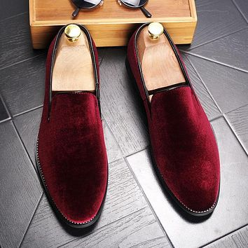 Men's Velvet Luxury Slip-on Loafers