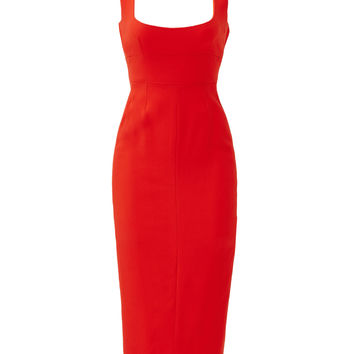 Narciso Rodriguez Red Open Back Dress