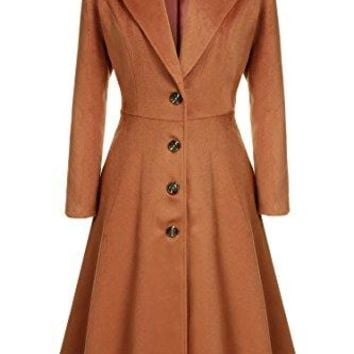Kize Women Single Breasted Overcoat Long Trench Coat Outerwear plus size