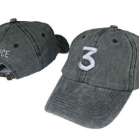Retro CHANCE 3 Embroidered Baseball Sports Cap Hat -Gray