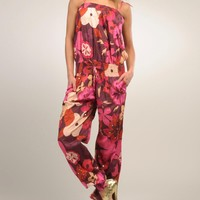 Goa Floral Print 100% Cotton Jumpsuit - GOA Summer Apparel for Her - Modnique.com