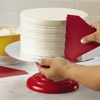 Cake Boss Tools & Gadgets 2-pc. Plastic Icing Comb Set (Red)