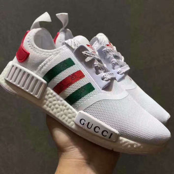 d2f462146fac6 GUCCI Adidas NMD Fashion Women Men Casual Running Sport Shoes