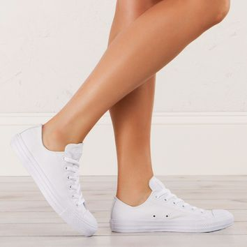 Converse Leather Sneakers in White