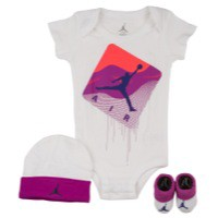 Jordan 3 Piece Taglines Creeper Set - Girls' Infant at Kids Foot Locker