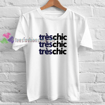 Tres chic White t shirt gift tees unisex adult cool tee shirts