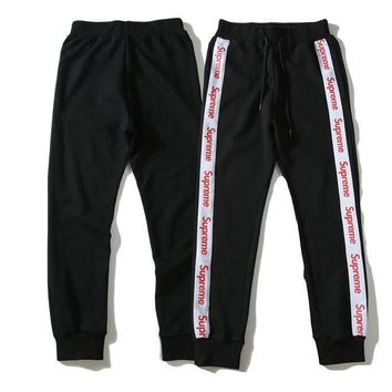 New Preppy Love Legging Pants Letter Printing with Side Striped Jogger Track Pants Legging Pants Elastic Waist Casual Jogger Clo