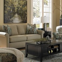 Living Room Furniture, Sandy Lane Queen Sleeper, Living Room Furniture | Havertys Furniture