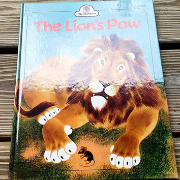1987 the Lion's Paw by Jane Werner Watson, Vintage Children's Book, The Lion's Paw Book, Merrigold Press The Lion's Paw Hardcover Book, Lion