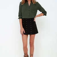 All a Blouse It Olive Green Long Sleeve Top