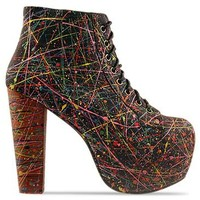 Jeffrey Campbell Lita Paint in Black Multi at Solestruck.com
