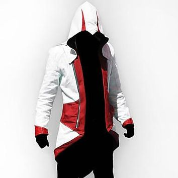 Inspired by Cosplay Video Game Assassinator Connor Jacket/Coat