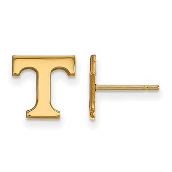 NCAA 10k Yellow Gold University of Tennessee XS Post Earrings