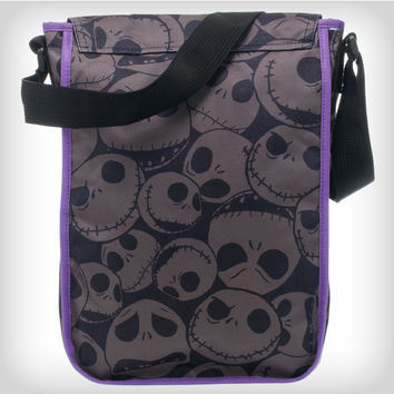 Nightmare Before Christmas Tonal Jack Head Crossbody Bag