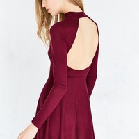 Silence   Noise Open-Back Mock-Neck Mini Dress
