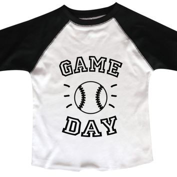 Game Day BOYS OR GIRLS BASEBALL 3/4 SLEEVE RAGLAN - VERY SOFT TRENDY SHIRT B960