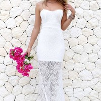 Cortez Lace Gown - White | SABO SKIRT