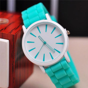 2016 New Famous Brand Geneva Silicone Quartz Watch Women Jelly Casual Dress Watches Relogio Feminino Pink Clock Hot Sale