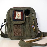 Military Olive Drab Army Small Bag Swish Swish by stalwartsatchels