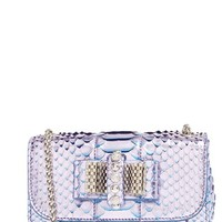 Christian Louboutin 'Sweet Charity' Genuine Python Shoulder Bag - Metallic