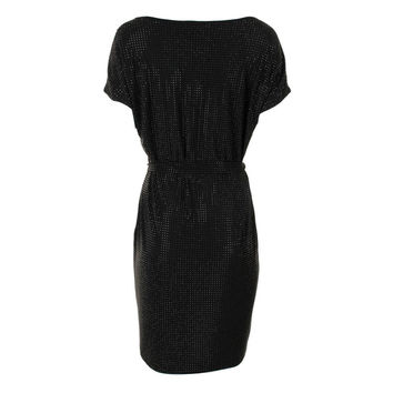 Grayse Womens Stretch Embellished Cocktail Dress