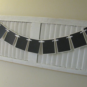 Chalkboard Blank Banner Bunting Garland Ready for Your Message Great Photo Prop Use Again and Again