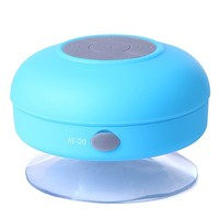 HDE Mini Rechargeable Wireless Bluetooth Hands Free Mic Waterproof Outdoor Speaker (Blue)