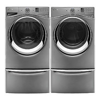 Whirlpool 4.5 cu. ft. Duet® Front-Load Washer & 7.4 cu. ft. Dryer Bundle & Pedestals - Appliances - Washer and Dryer Sets - Washer and Dryer Bundles