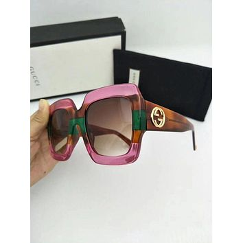 LMFON8C New Authentic Gucci Sunglasses GG178S Women's Pink Oversized Square
