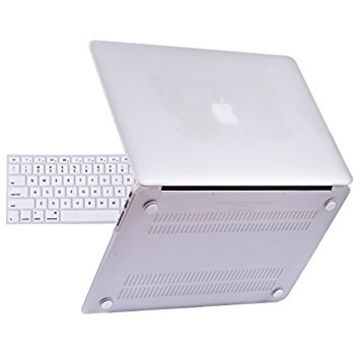 "iBenzer Basic Soft-Touch Series Plastic Hard Case & Keyboard Cover for Apple Macbook Air 13-inch 13"" A1369/1466 (Crystal Clear)"