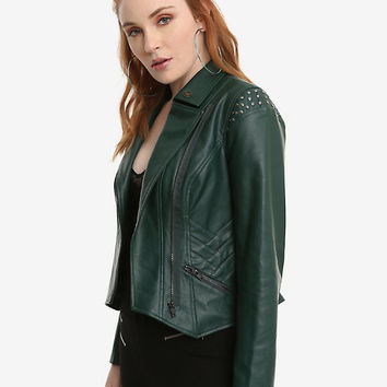 Her Universe Marvel Loki Faux Leather Girls Jacket