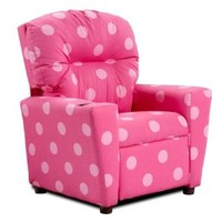Polka Dotted Kids Recliner in Pink